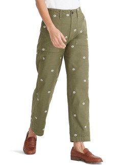 Madewell Daisy Embroidered Edition Griff Fatigue Pants