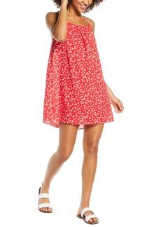 Madewell Daisy Field Ruffle Neck Cover-Up Minidress