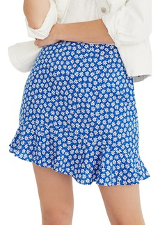 Madewell Daisy Print Ruffle Miniskirt