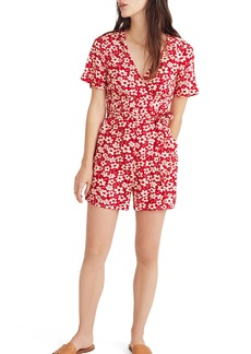 Madewell Daisy Wrap Front Romper