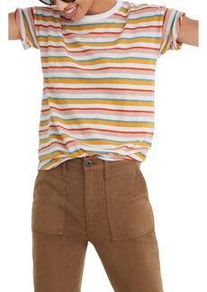 Madewell Daniels Stripe Whisper Cotton Rib Crewneck T-Shirt