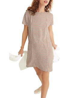 Madewell Daphne Stripe Button Back Dress