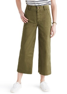 Madewell Dearborn Wide Leg Crop Pants