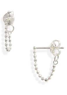 Madewell Delicate Collection Demi-Fine Ball Chain Hoop Earrings