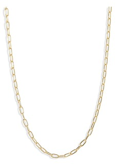 Madewell Delicate Collection Demi-Fine Paperclip Chain Necklace