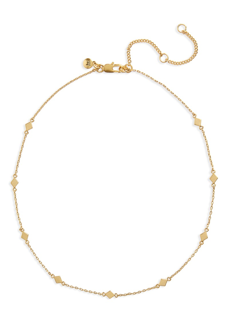 Madewell Delicate Diamond Shapes Choker Necklace