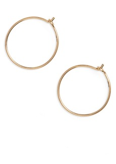 Madewell Delicate Wire Hoop Earrings