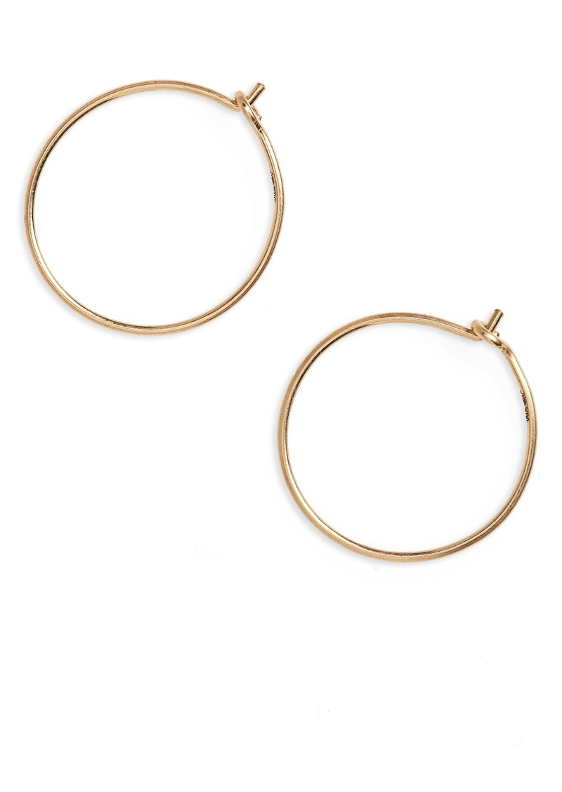 Madewell Madewell Delicate Wire Hoop Earrings | Jewelry - Shop It To Me