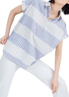 Madewell Delray Plaid Central Popover Shirt