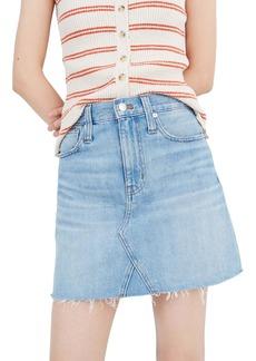 Madewell Denim A-Line Miniskirt