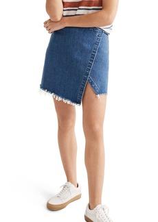 Madewell Denim Faux Wrap Mini Skirt