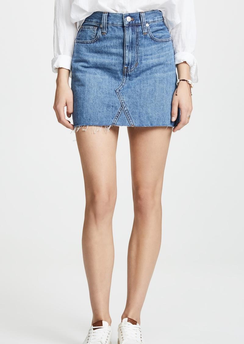 040dbba80b Madewell Rigid Denim A-Line Mini Skirt in Lakeline Wash: Eco Edition
