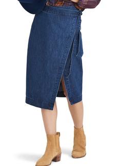 Madewell Denim Midi Wrap Skirt