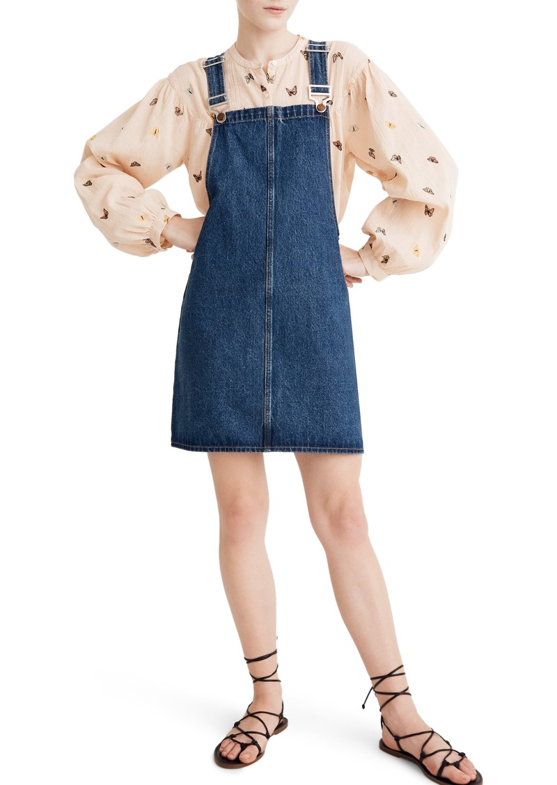 Madewell Denim Overall Minidress