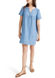 Madewell Denim Popover Swing Dress