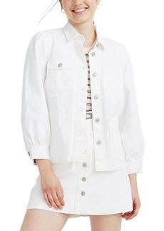 Madewell Denim Puff Sleeve Chore Jacket
