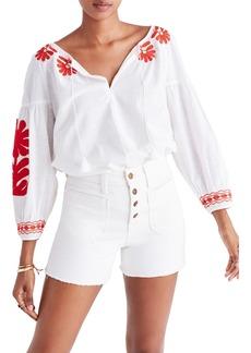 Madewell Denim Shorts (Tile White)