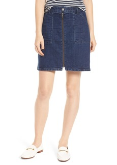 Madewell Denim Utility Zip Miniskirt