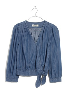 Madewell Denim Wrap Blouse