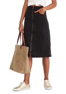 Madewell Denim Zip Midi Skirt