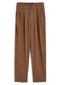 Madewell Desert Check Pleated Taper Wide Leg Pants