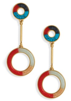 Madewell Desert Sunset Circle Drop Earrings