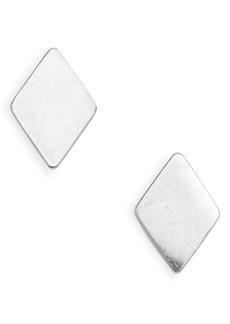Madewell Diamond-Shaped Stud Earrings