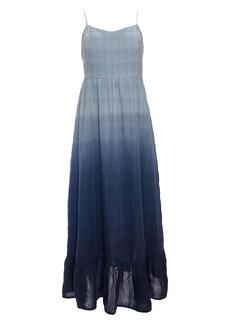 Madewell Dip Dye Cami Pintuck Ruffle Dress