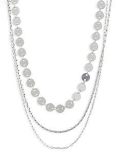 Madewell Disc Layered Necklaces