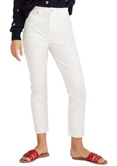 Madewell Distressed High Waist Slim Jeans (Tile White)