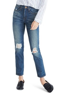 Madewell Distressed Slim Straight Leg Jeans (Forster Wash)