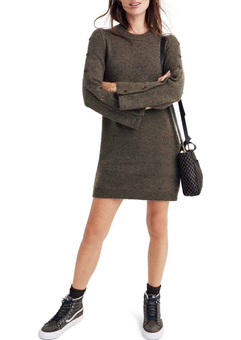 Madewell Donegal Button-Sleeve Sweater Dress
