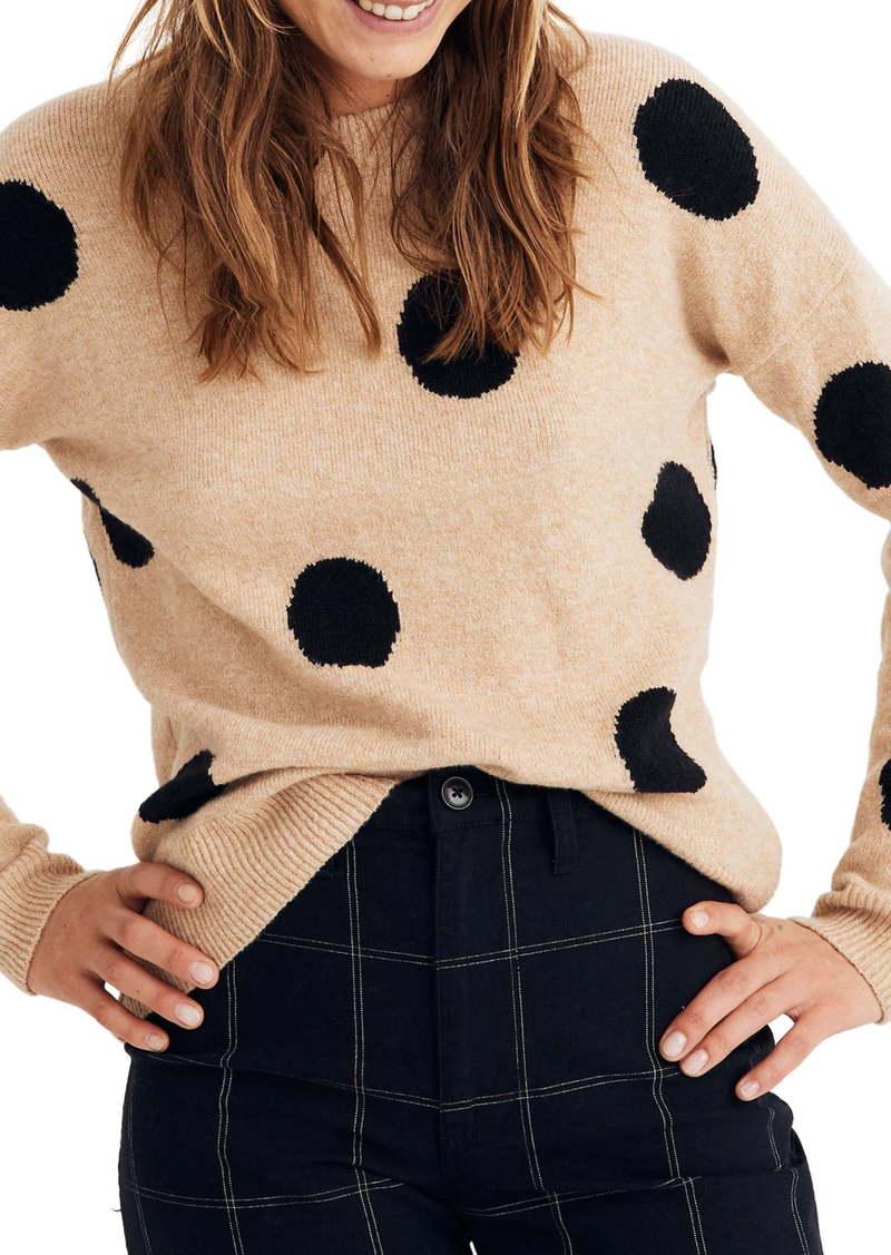 Madewell Dot Graystone Coziest Yarn Pullover Sweater