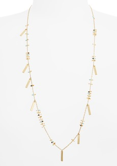 Madewell Double Bead & Charm Necklace