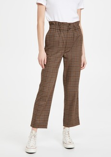 Madewell Double Button Plaid Pants