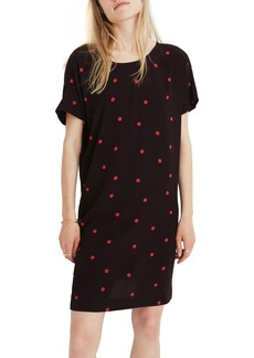 Madewell Downtown Dot Print Tie Back Dress