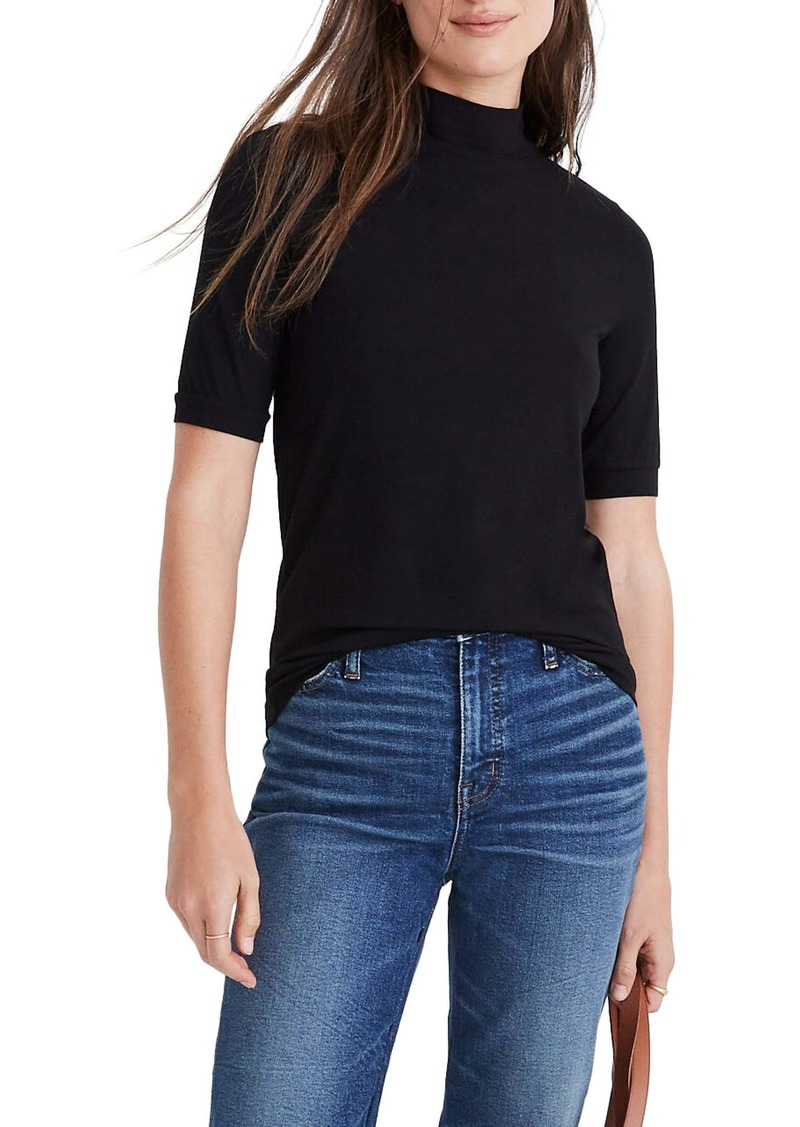 Madewell Drapey Mock Neck Top