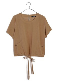 Madewell Drawstring Pocket Top
