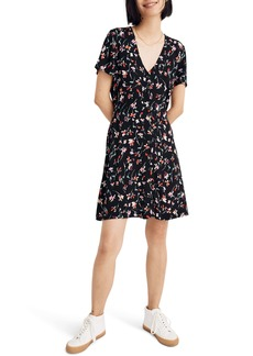 Madewell Drifting Flowers V-Neck Button Front Dress