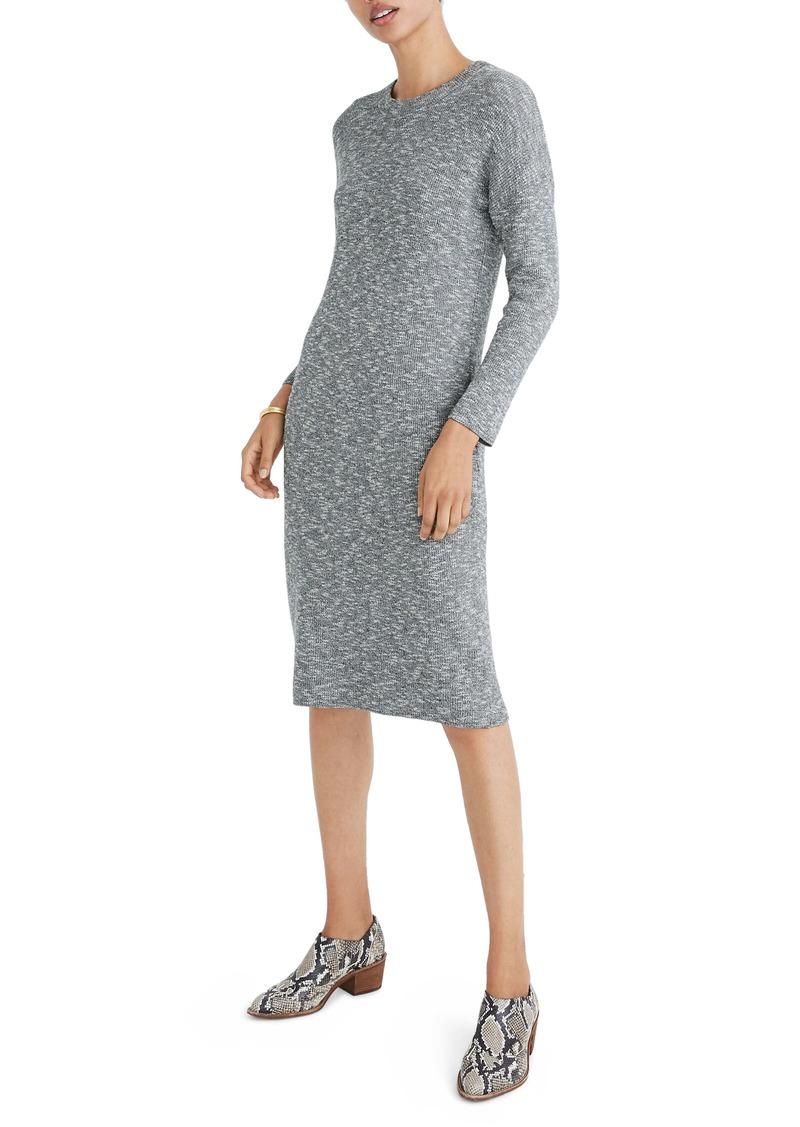 Madewell Drop-Shoulder Sweater Midi Dress