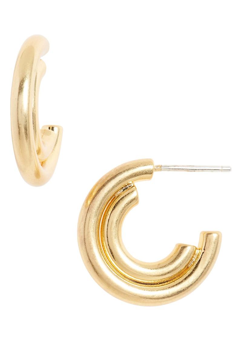Madewell Duo Shine Small Hoop Earrings