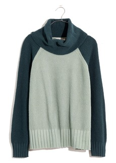 Madewell Eastbrook Colorblock Turtleneck Cross Back Sweater