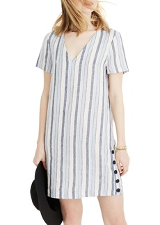 Madewell Easy Side Button Linen Dress