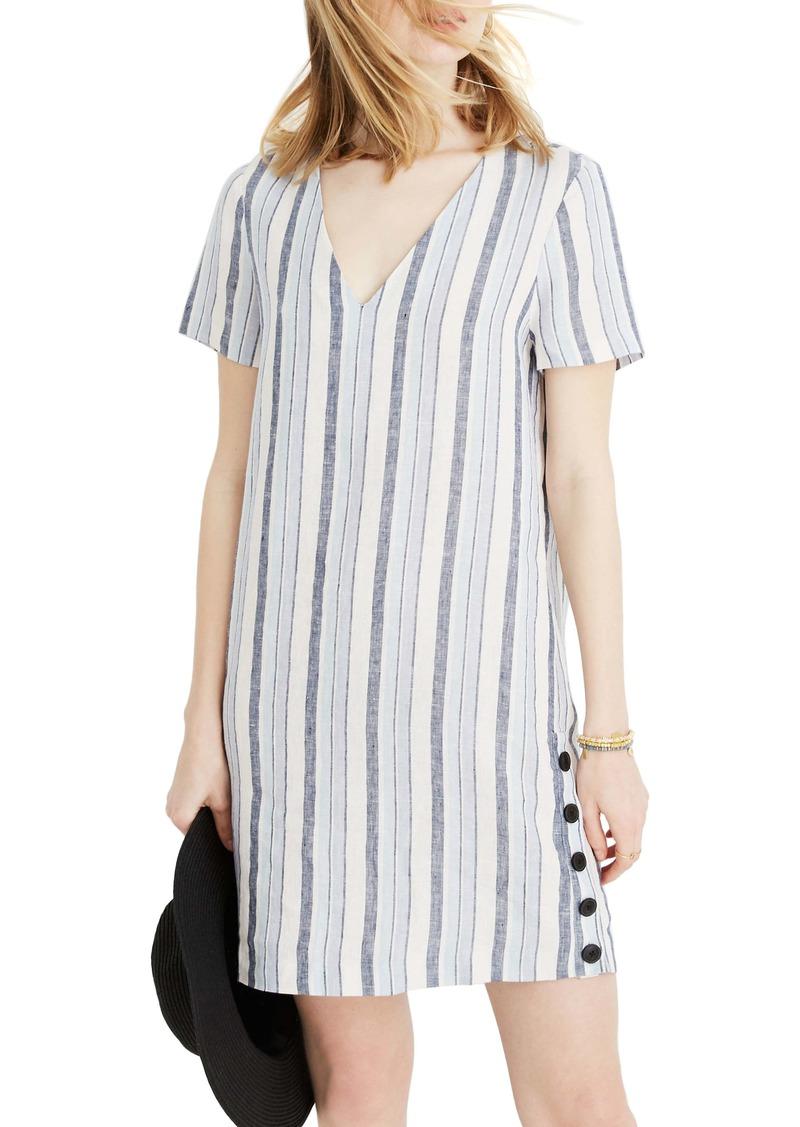 Madewell Easy Side Button Linen Dress