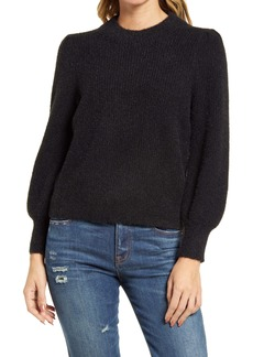 Madewell Eaton Puff-Sleeve Pullover Sweater