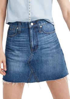 Madewell Eco Edition Rigid Denim A-Line Miniskirt