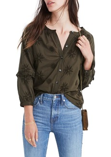 Madewell Embroidered Bubble Sleeve Shirt