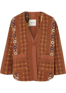 Embroidered cotton-canvas jacket
