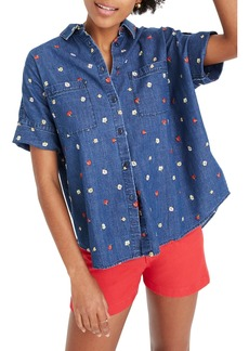 Madewell Embroidered Denim Courier Shirt