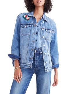 Madewell Embroidered Denim Jacket